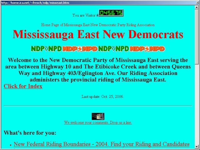Mississauga East New Democratic Party Association