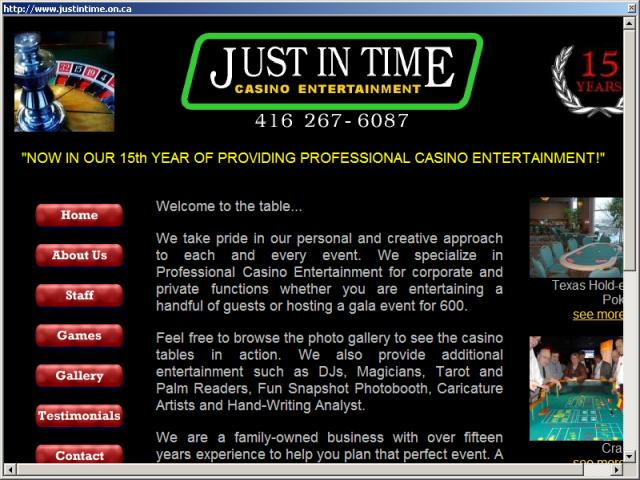Just In Time Casino Entertainment