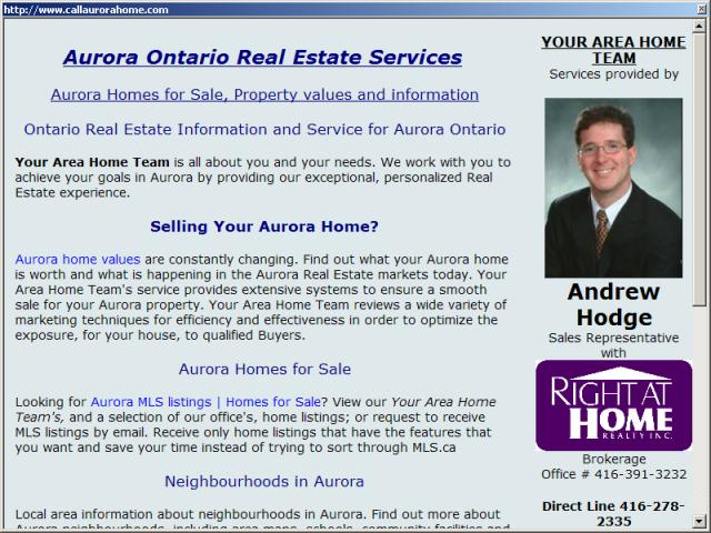 Aurora Ontario Homes for Sale and Real Estate Property Values