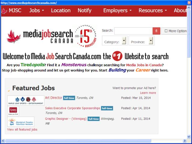 Media Job Search Canada Inc.