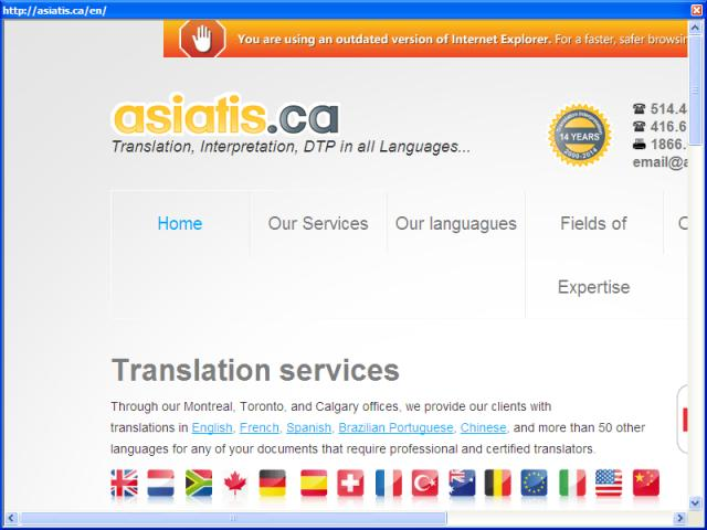 Asiatis certified English Translation Canada | French Translation Montreal