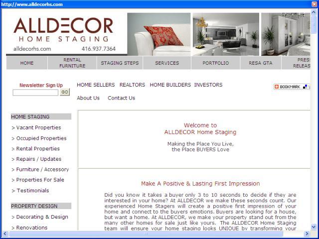 Alldecor Home Staging: Toronto