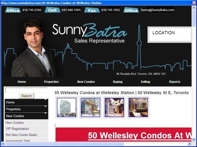 50 Wellesley Condos at Wellesley Station Toronto