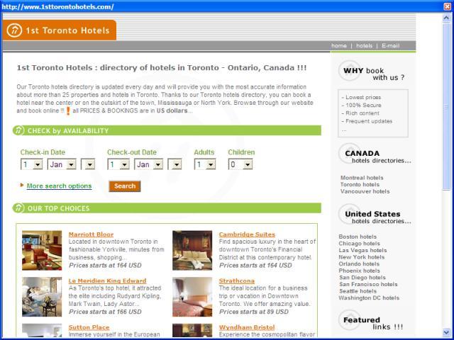 1st Toronto Hotels