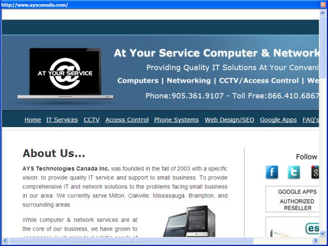 At Your Service Computer and Network Solutions
