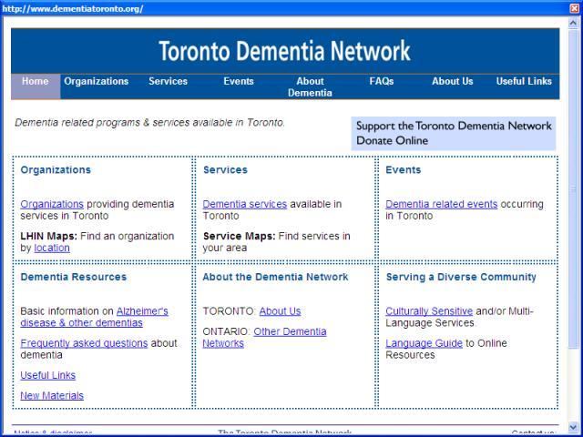 Toronto Dementia Network