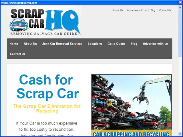 ScrapCarHQ : Money for Your Old Scrap Car - Search Ends Here!!
