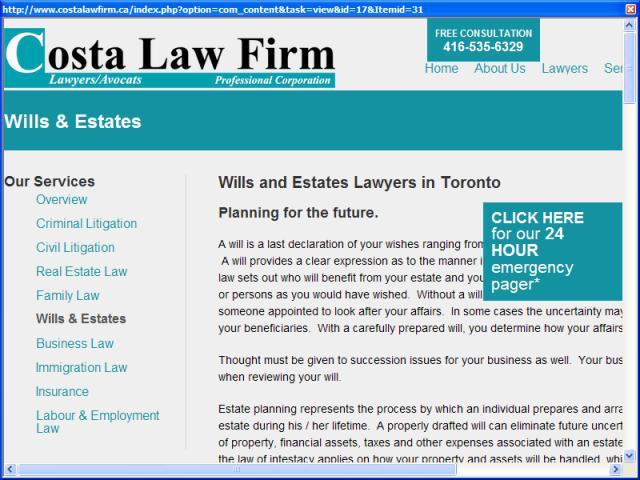 Wills and Estates Law Toronto