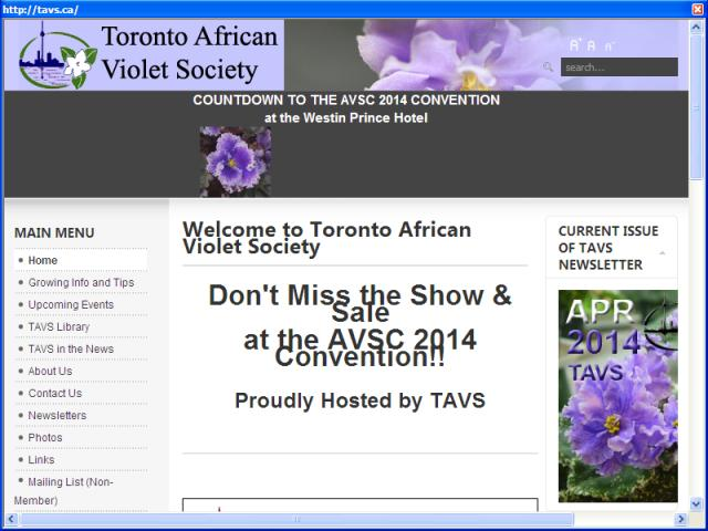 Tronto African Violet Society