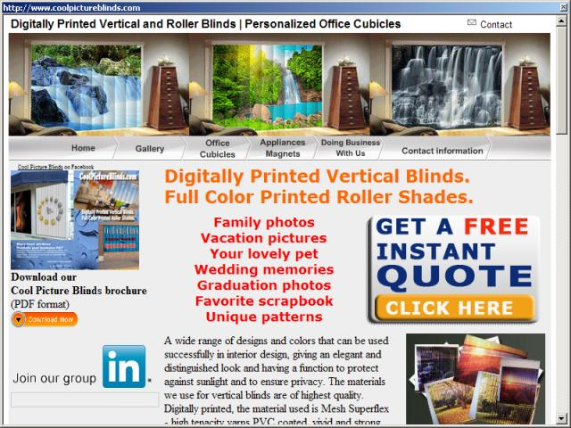 Digitally Printed Vertical Blinds