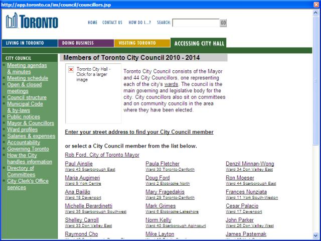 Members of Toronto City Council