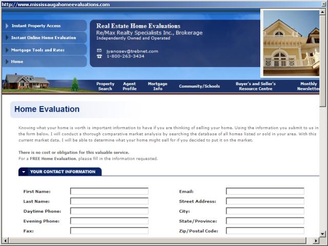 Real Estate Home Evaluations