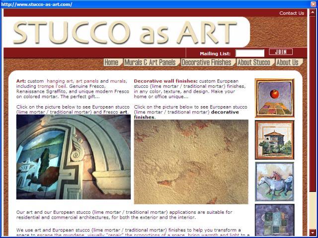 Stucco as Art