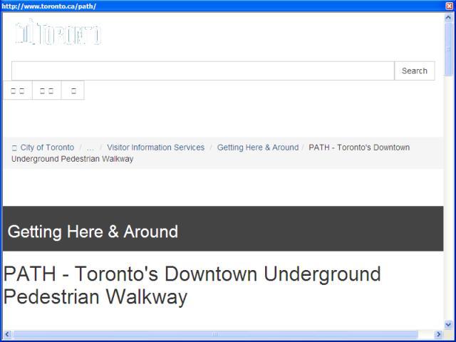 City of Toronto: PATH