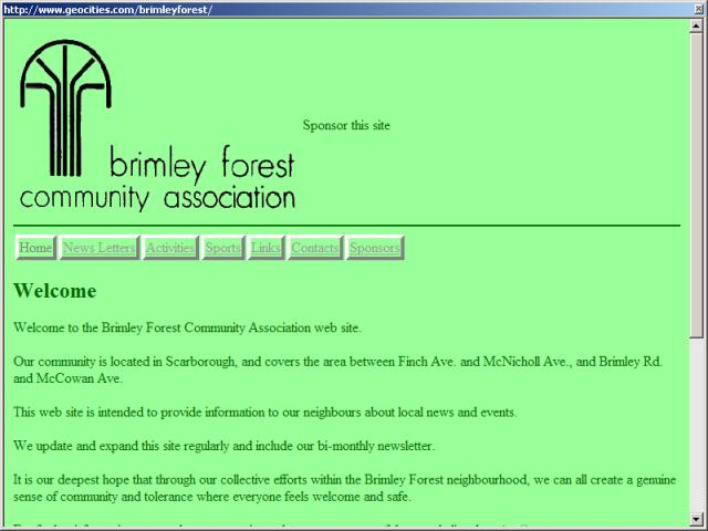 Brimley Forest Community Association