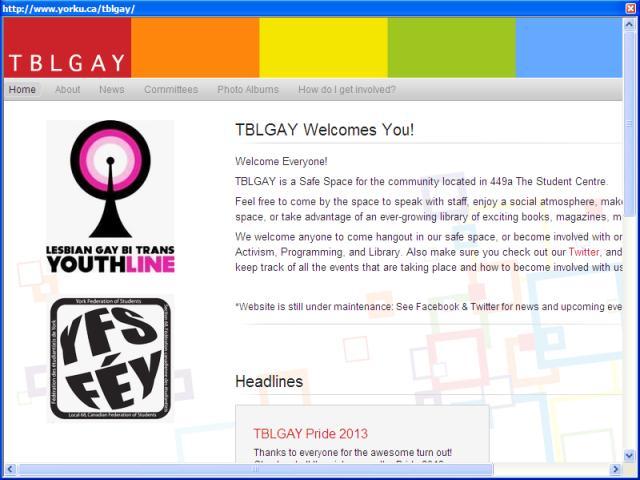 TBLGay Alliance at York