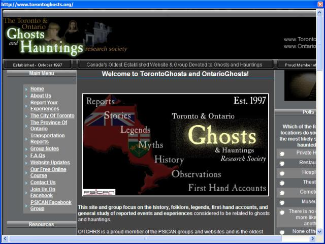 Toronto Ghosts and Hauntings Research Society